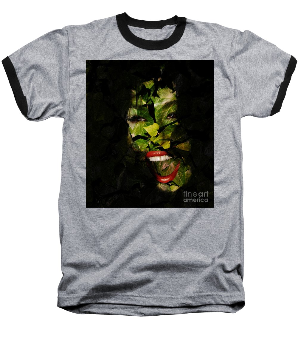 Clay Baseball T-Shirt featuring the photograph The Eyes Of Ivy by Clayton Bruster