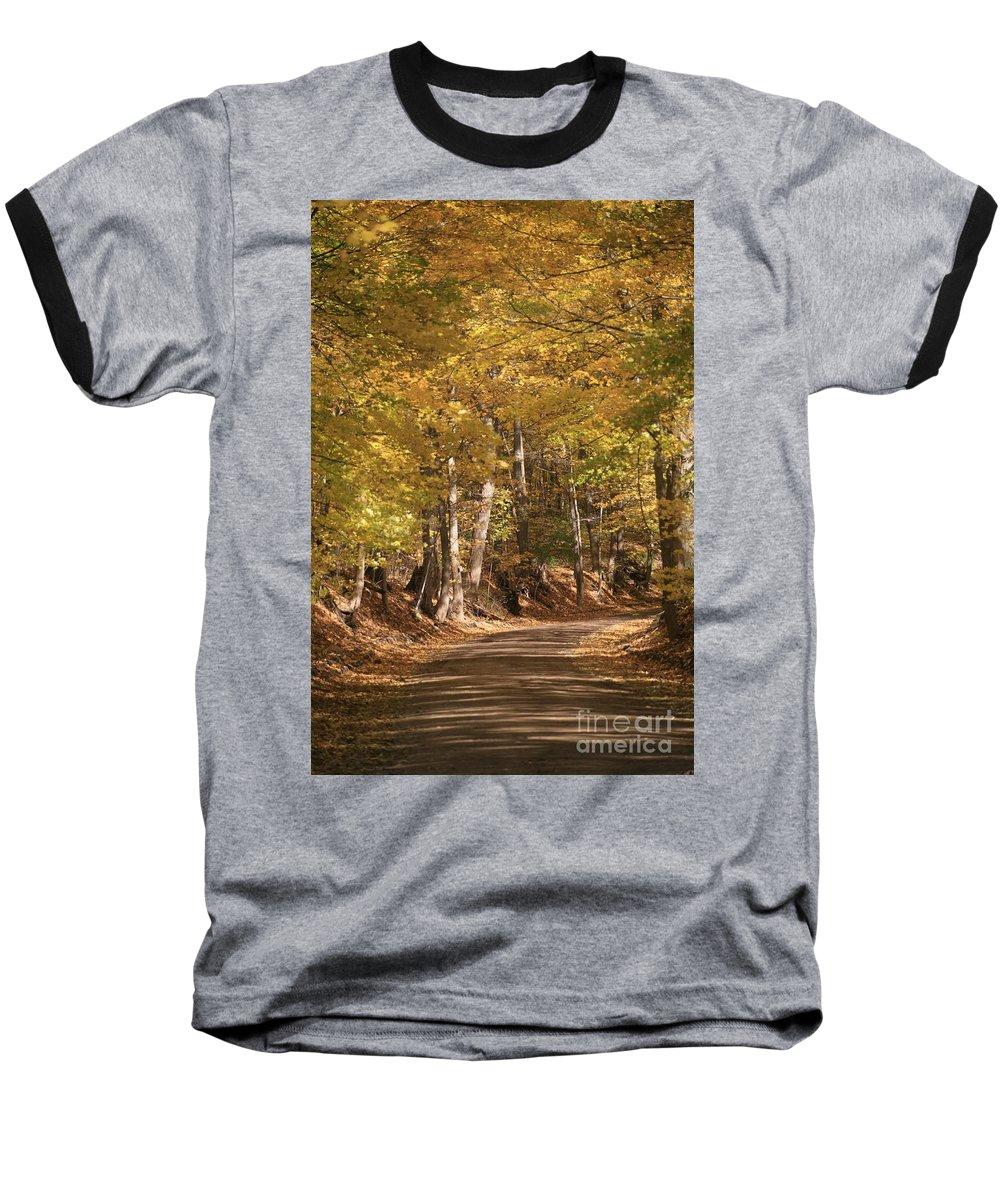 Golden Baseball T-Shirt featuring the photograph The Golden Road by Robert Pearson