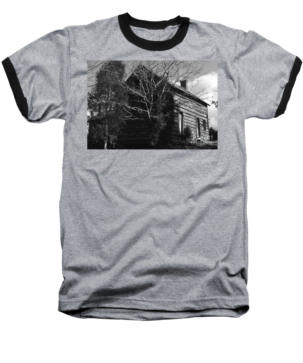 Cabins Baseball T-Shirt featuring the photograph The Homestead by Richard Rizzo