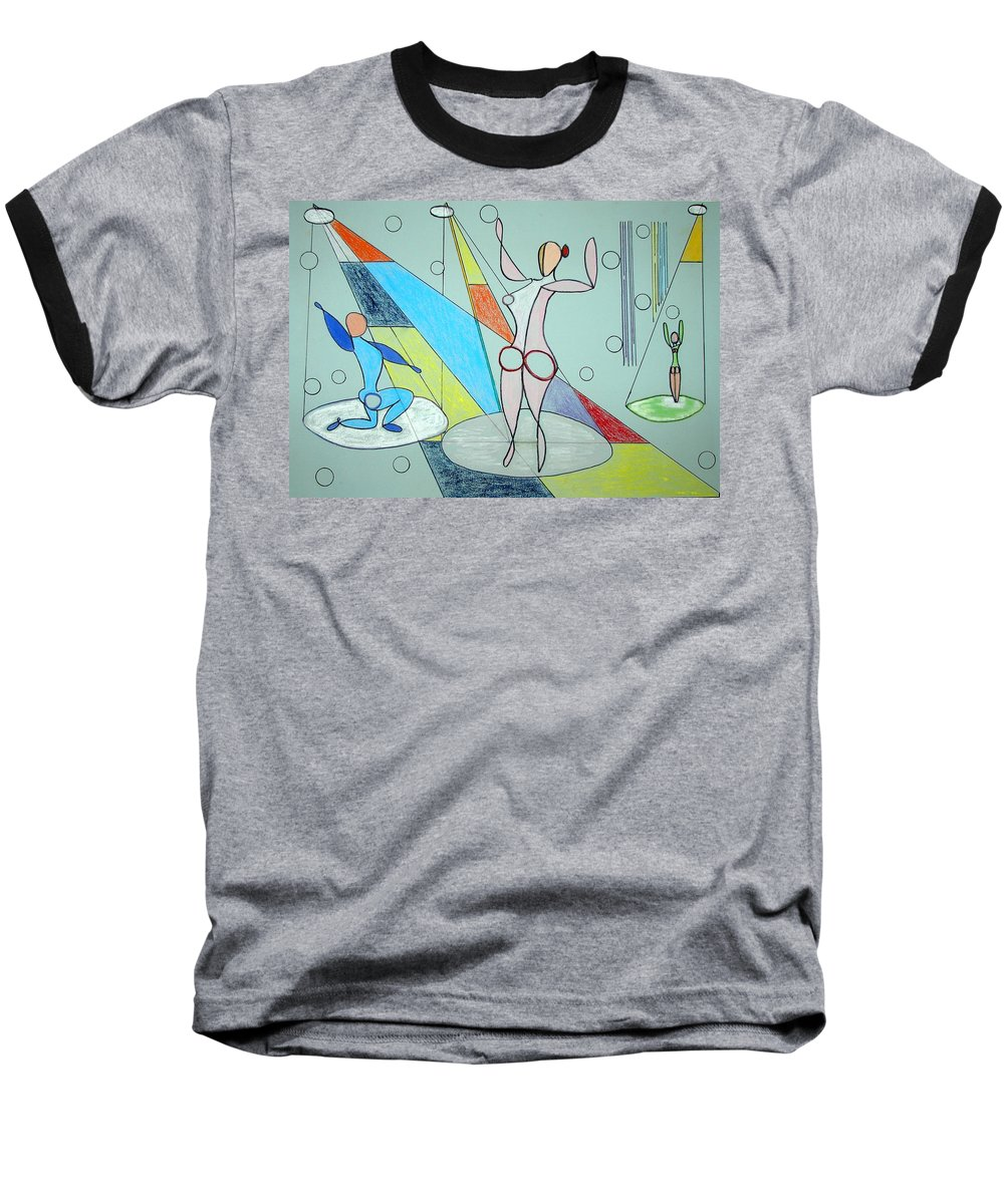 Juggling Baseball T-Shirt featuring the drawing The Jugglers by J R Seymour