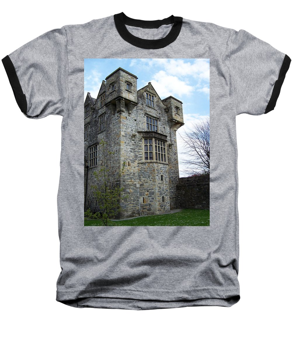 Ireland Baseball T-Shirt featuring the photograph The Keep At Donegal Castle Ireland by Teresa Mucha