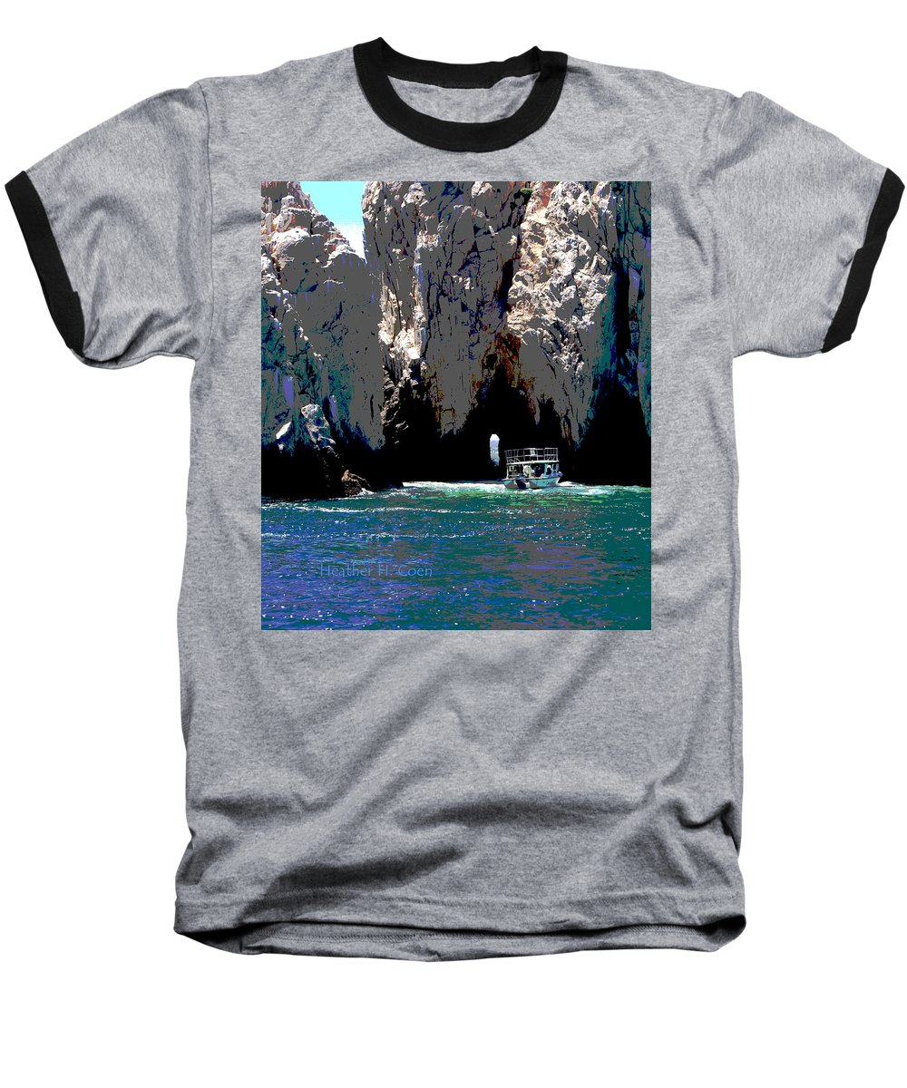 Mexico Baseball T-Shirt featuring the photograph The Keyhole Mexico Cabo San Lucas by Heather Coen