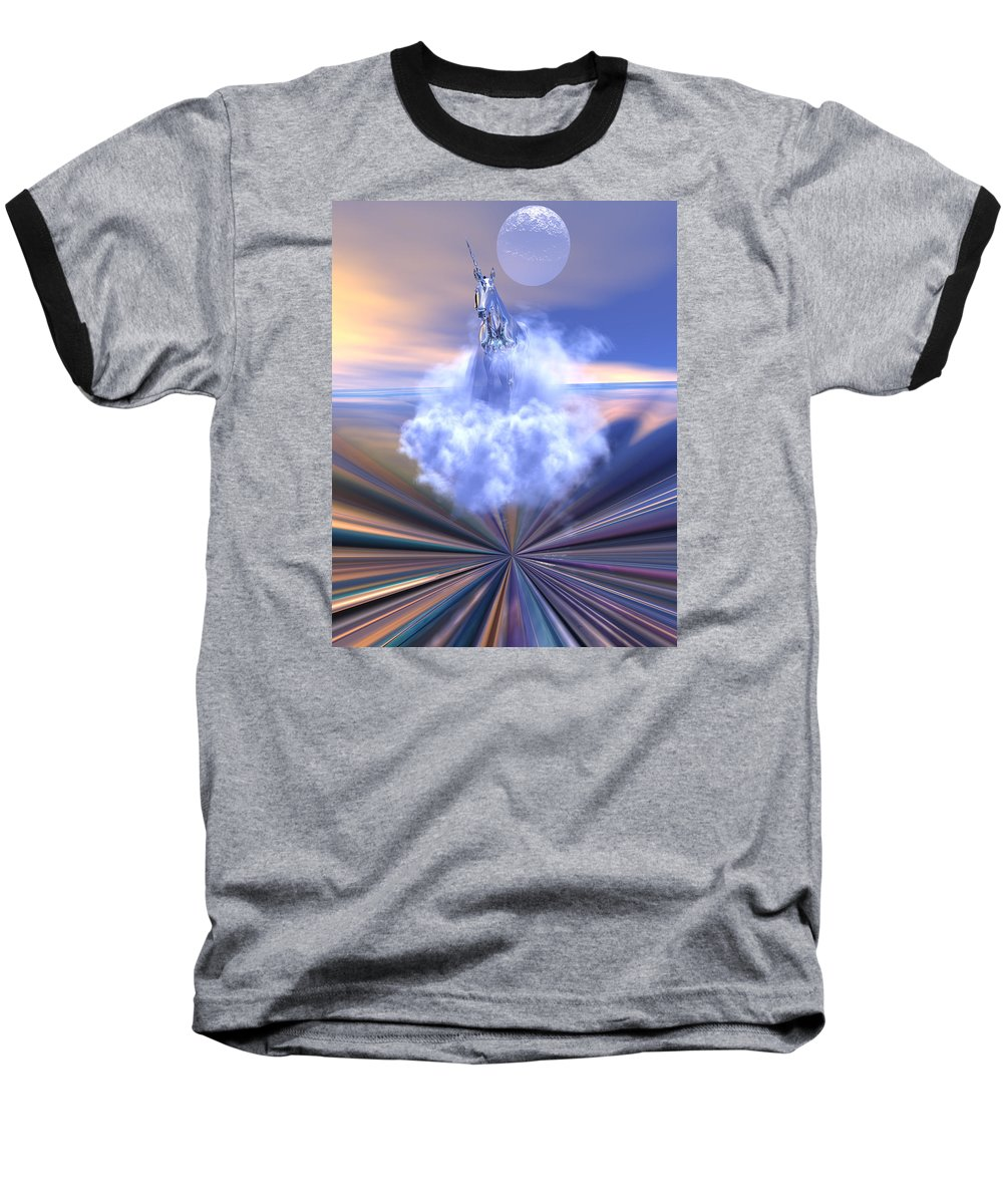 Bryce Baseball T-Shirt featuring the digital art The Last Of The Unicorns by Claude McCoy