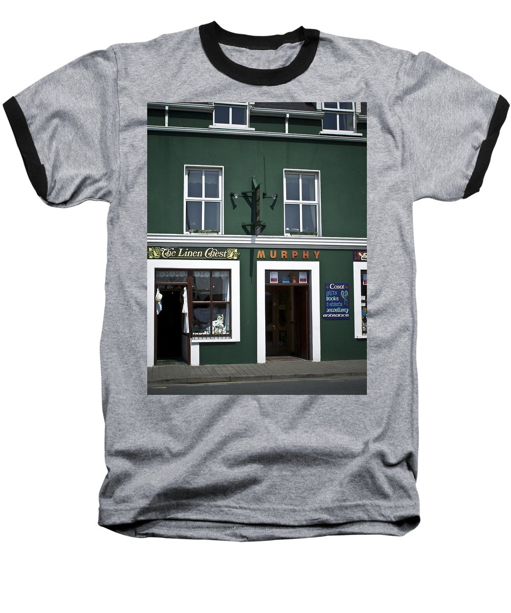 Irish Baseball T-Shirt featuring the photograph The Linen Chest Dingle Ireland by Teresa Mucha