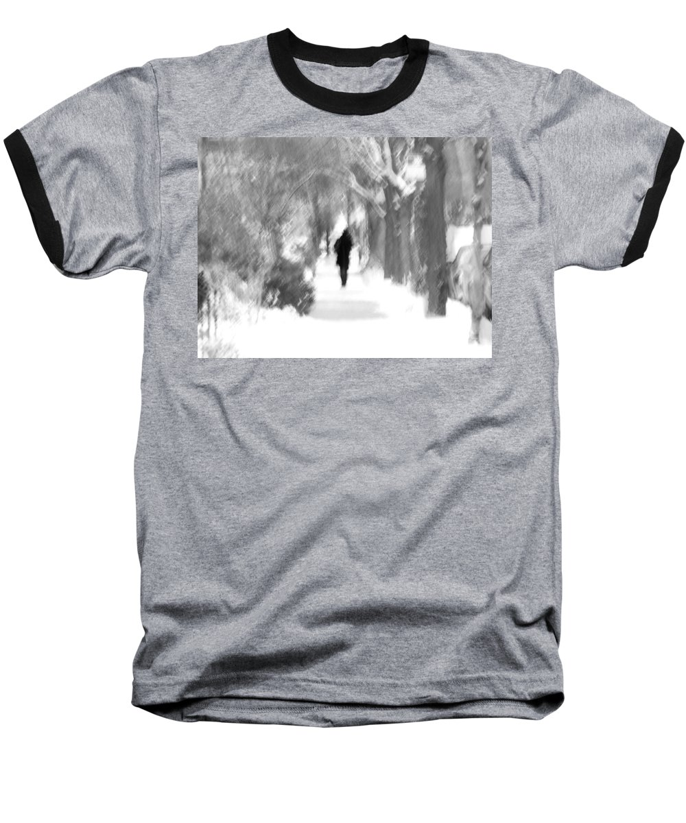 Blur Baseball T-Shirt featuring the photograph The Long December by Dana DiPasquale