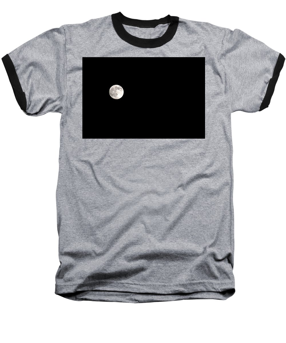 Clay Baseball T-Shirt featuring the photograph The Moon by Clayton Bruster