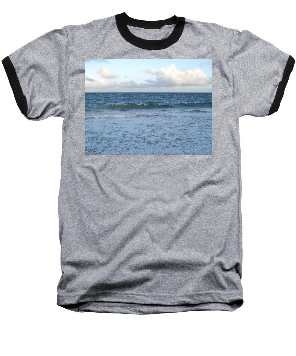 Surf Baseball T-Shirt featuring the photograph The Next Wave by Ian MacDonald