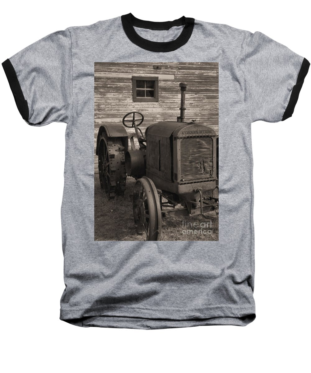 Abandoned Baseball T-Shirt featuring the photograph The Old Mule by Richard Rizzo
