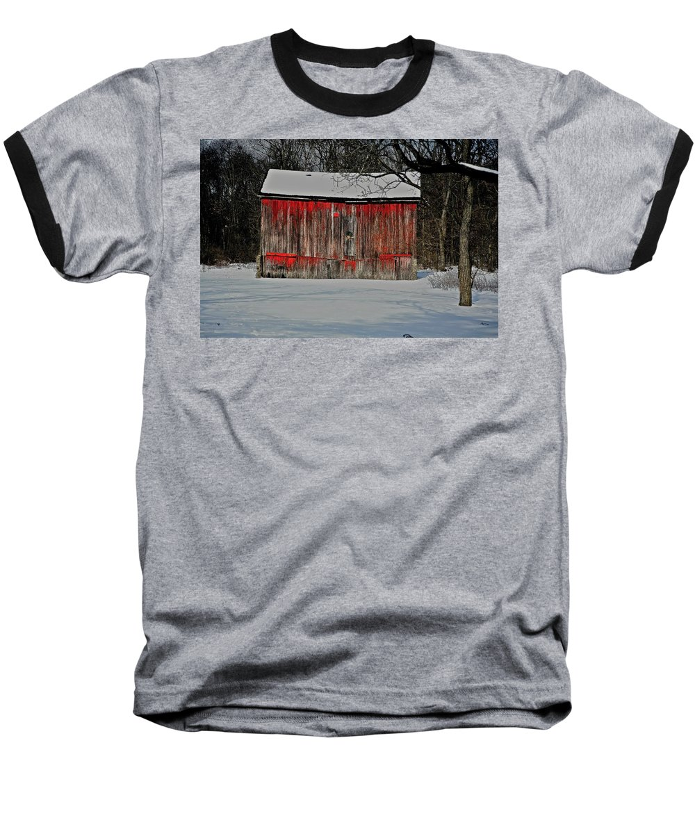 Old Baseball T-Shirt featuring the photograph The Old Weathered Barn by Robert Pearson