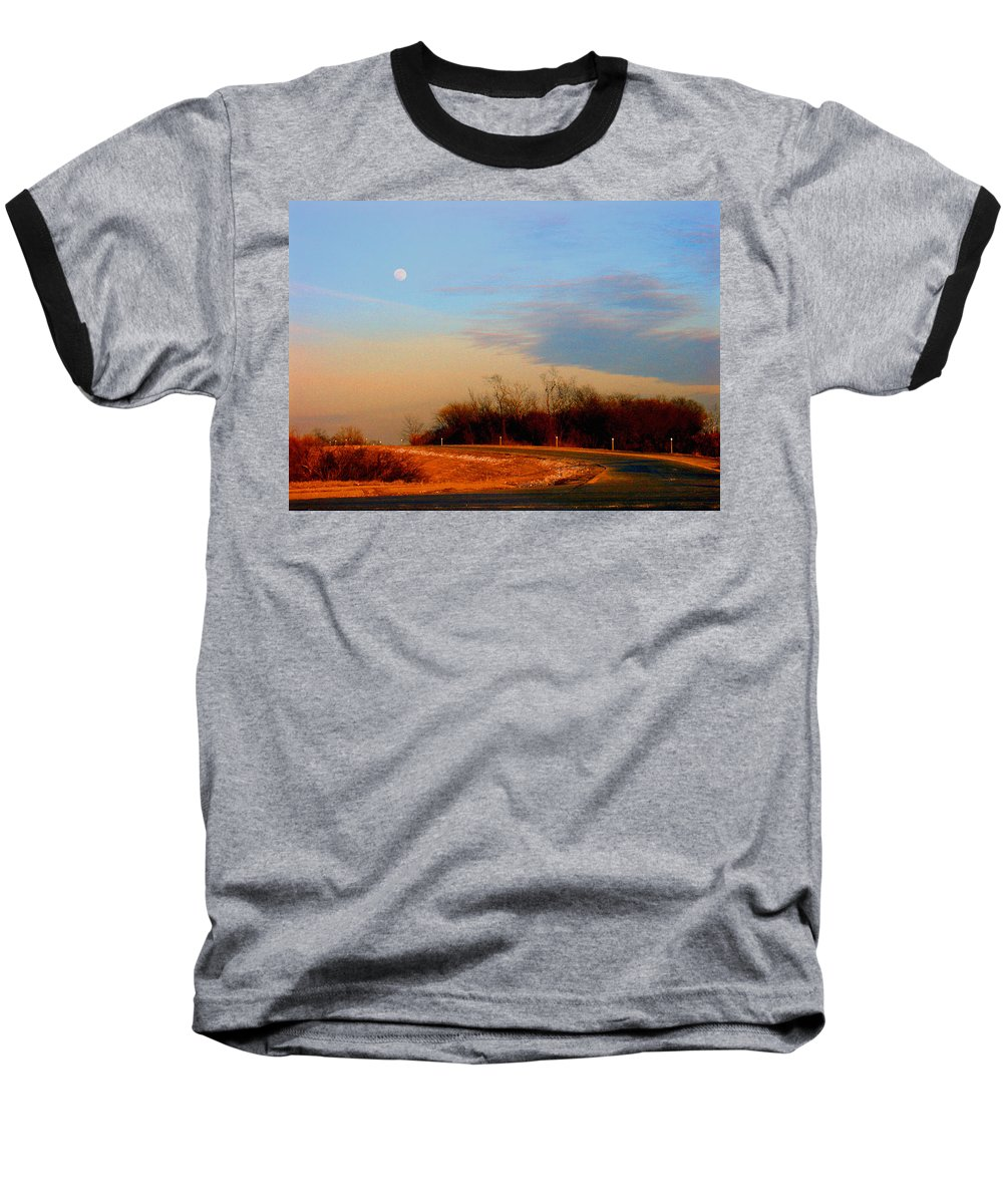 Landscape Baseball T-Shirt featuring the photograph The On Ramp by Steve Karol