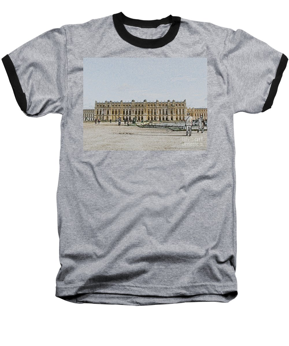 Palace Baseball T-Shirt featuring the photograph The Palace Of Versailles by Amanda Barcon