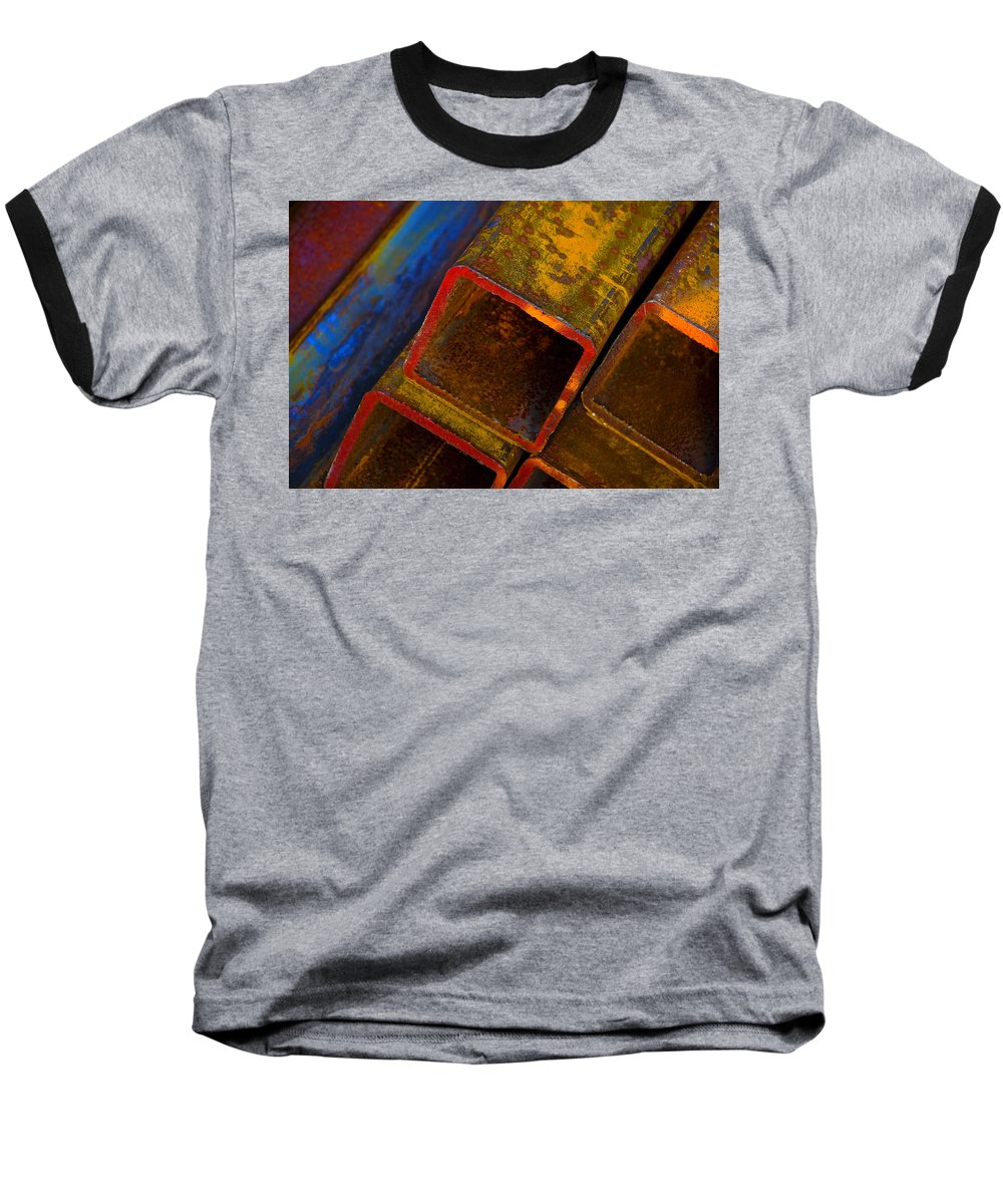 Abstract Baseball T-Shirt featuring the photograph The River by Skip Hunt