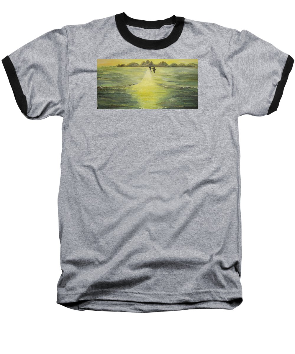 Soul Baseball T-Shirt featuring the painting The Road In The Ocean Of Light by Karina Ishkhanova