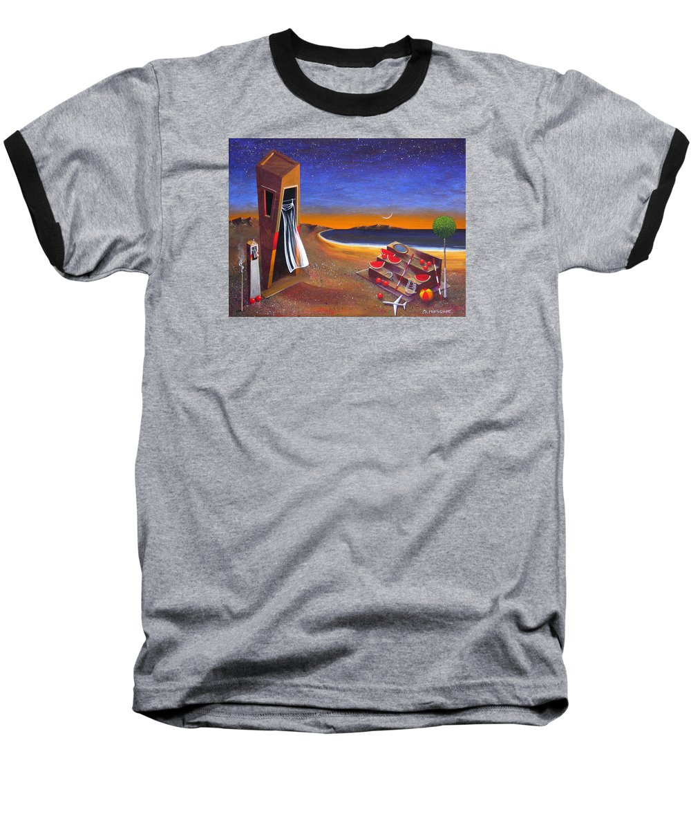 Landscape Baseball T-Shirt featuring the painting The School Of Metaphysical Thought by Dimitris Milionis