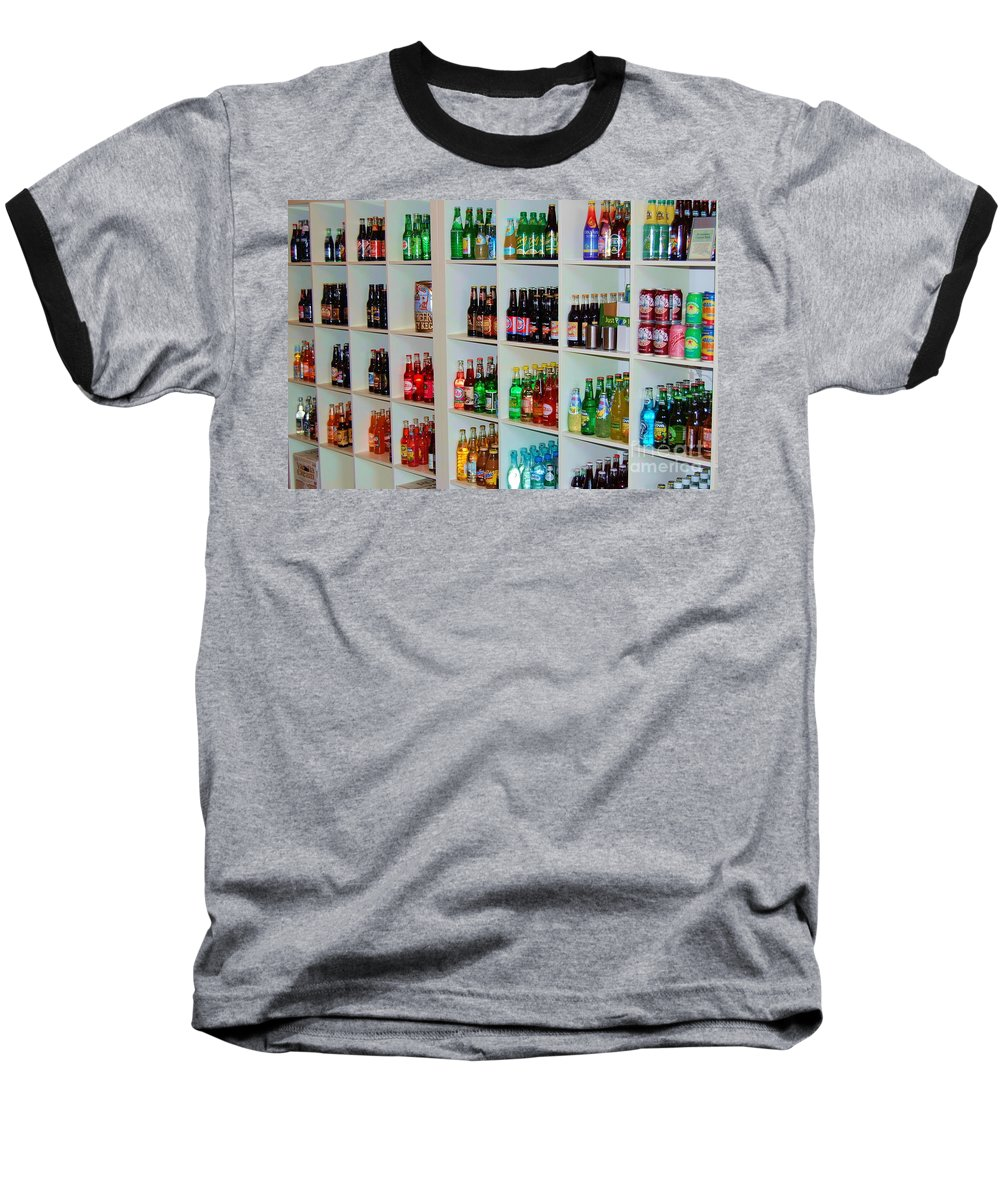 Soda Baseball T-Shirt featuring the photograph The Soda Gallery by Debbi Granruth