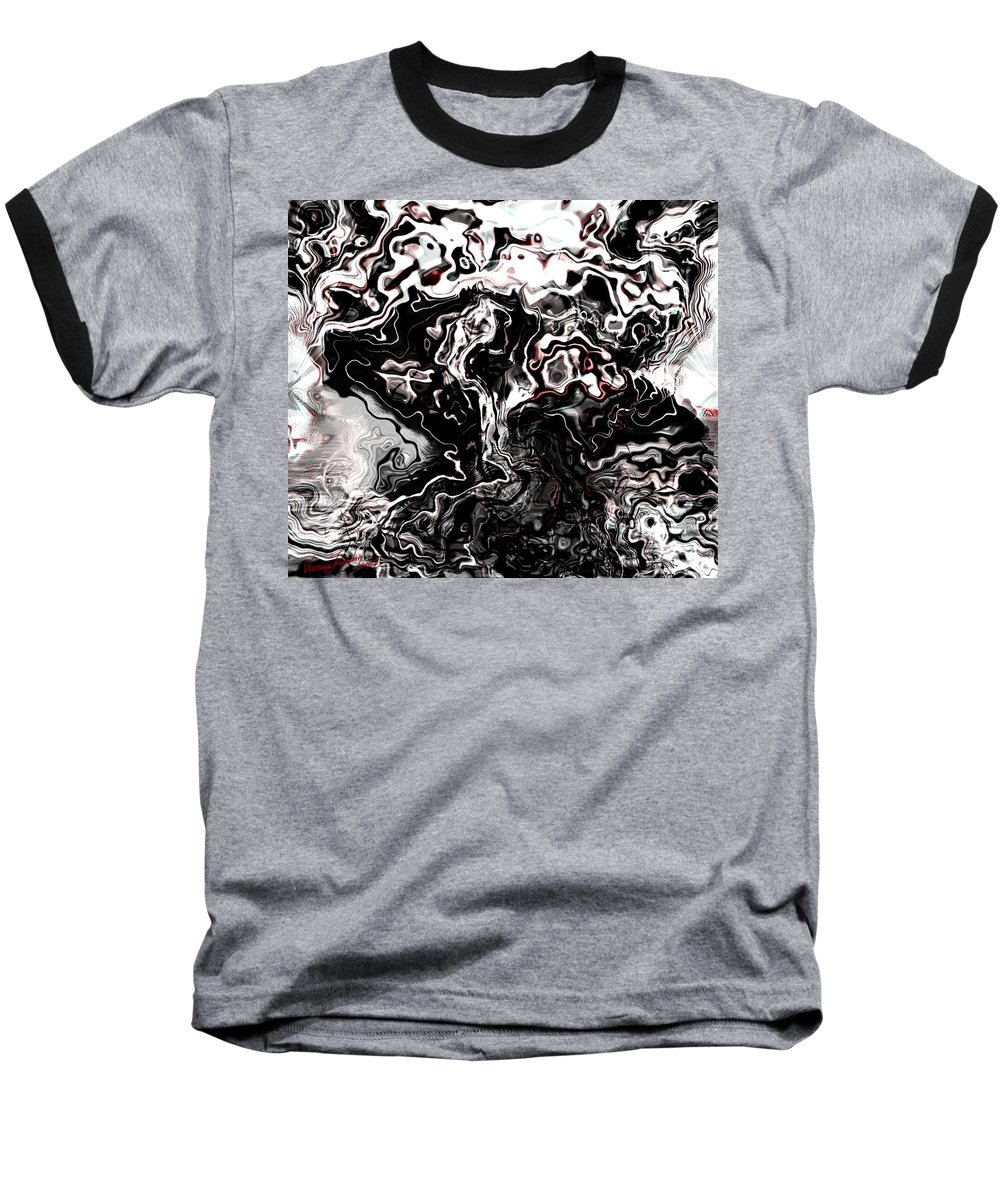 Storm Wind Clouds Nature Wind Baseball T-Shirt featuring the digital art The Storm by Veronica Jackson