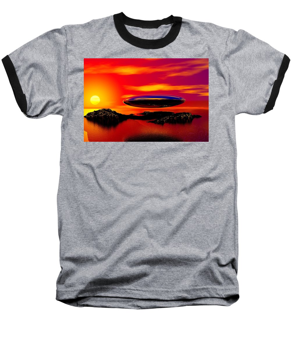 T Baseball T-Shirt featuring the digital art The Visitor by David Lane