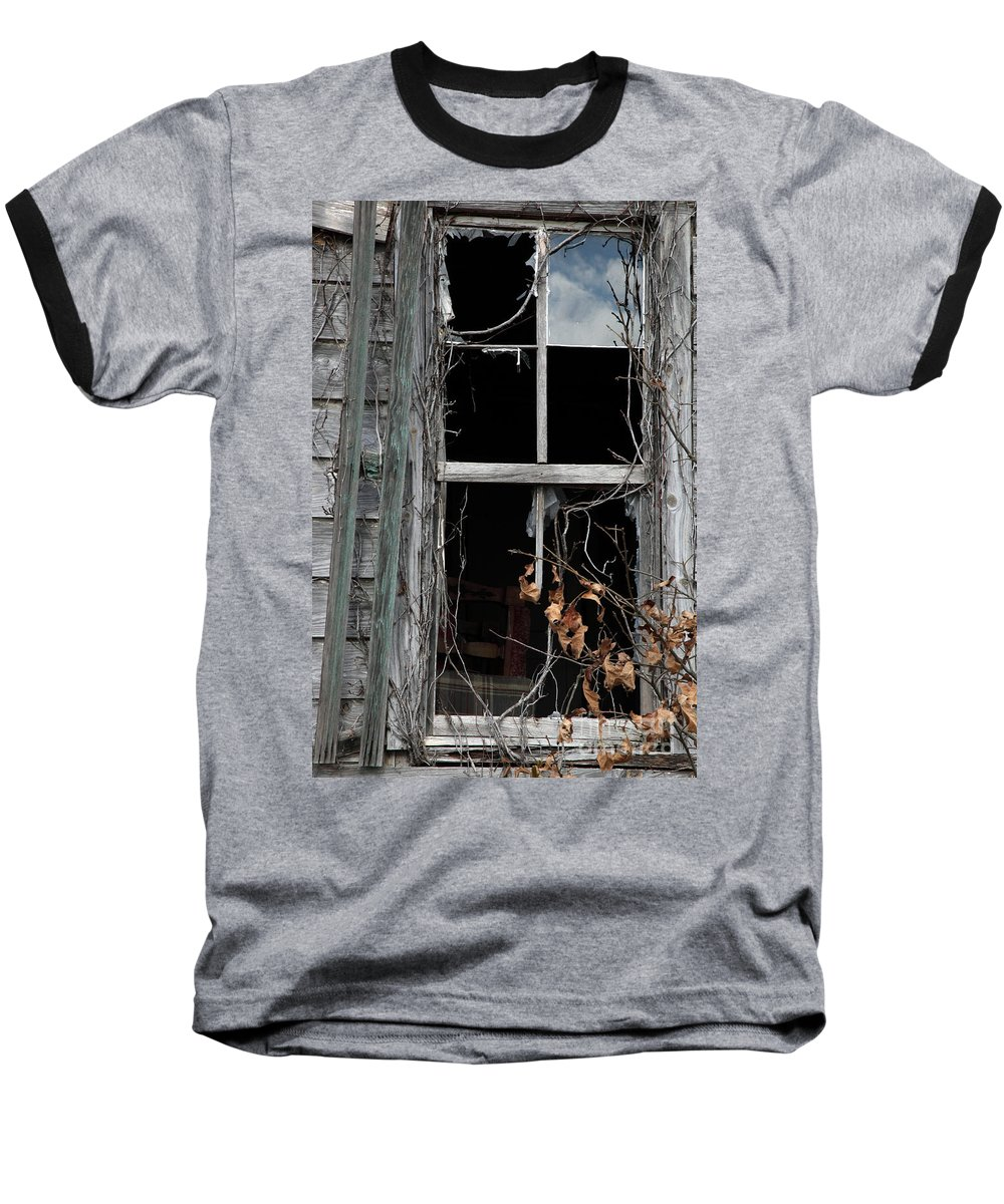 Windows Baseball T-Shirt featuring the photograph The Window by Amanda Barcon