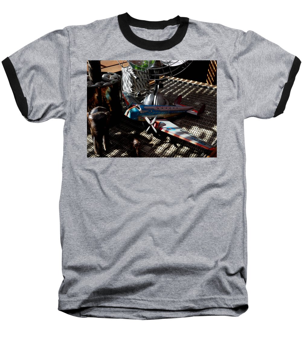 Still Life Baseball T-Shirt featuring the photograph The Zebra In Colour by Charles Stuart