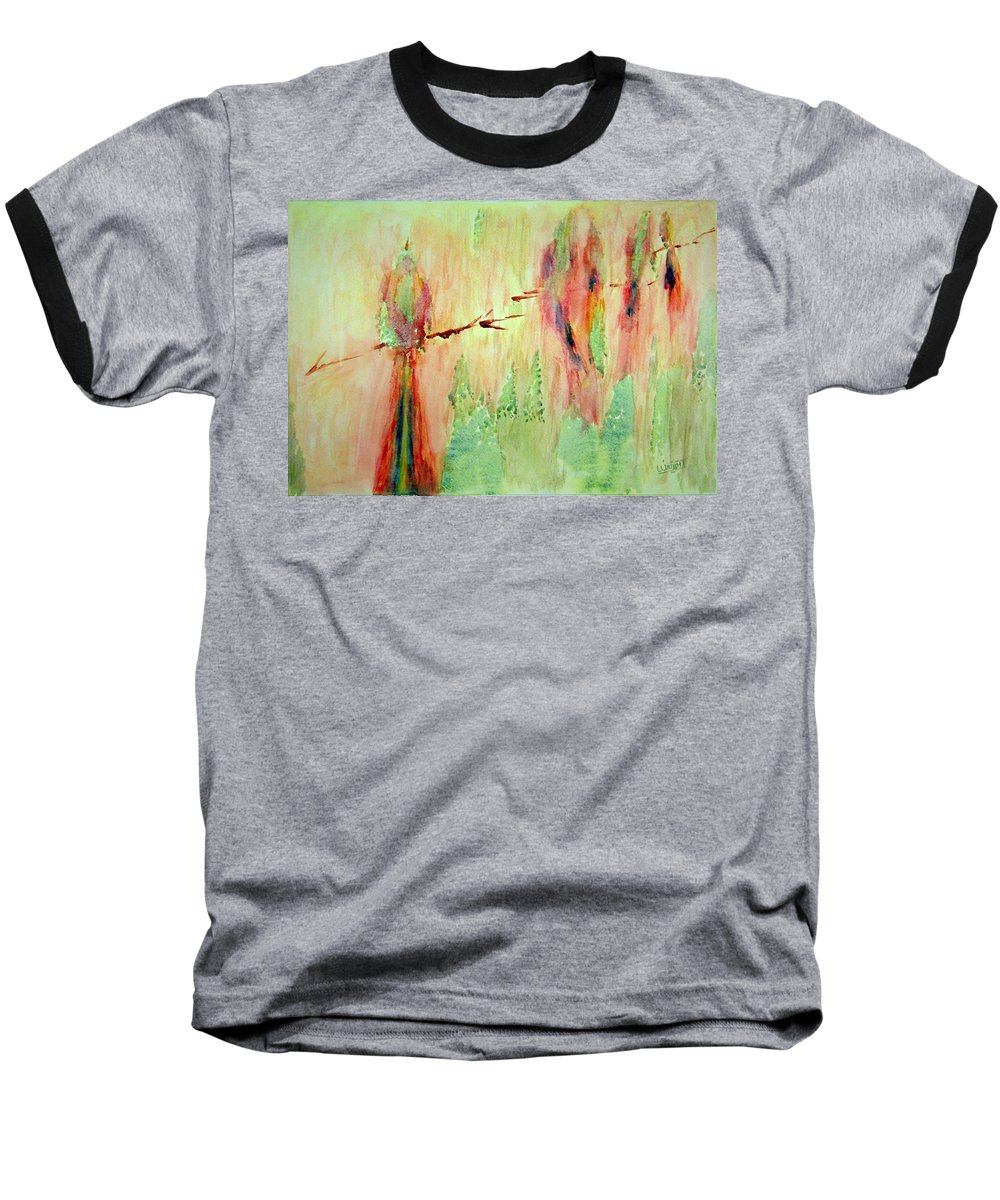 Abstract Art Baseball T-Shirt featuring the painting This Must Be A Dream by Larry Wright