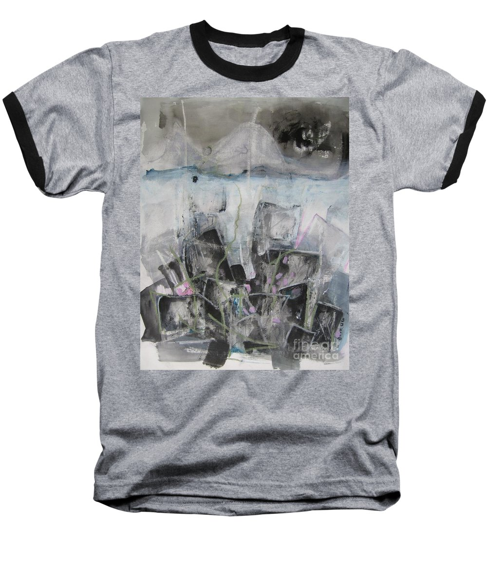 Cemetery Baseball T-Shirt featuring the painting Three Arms by Seon-Jeong Kim