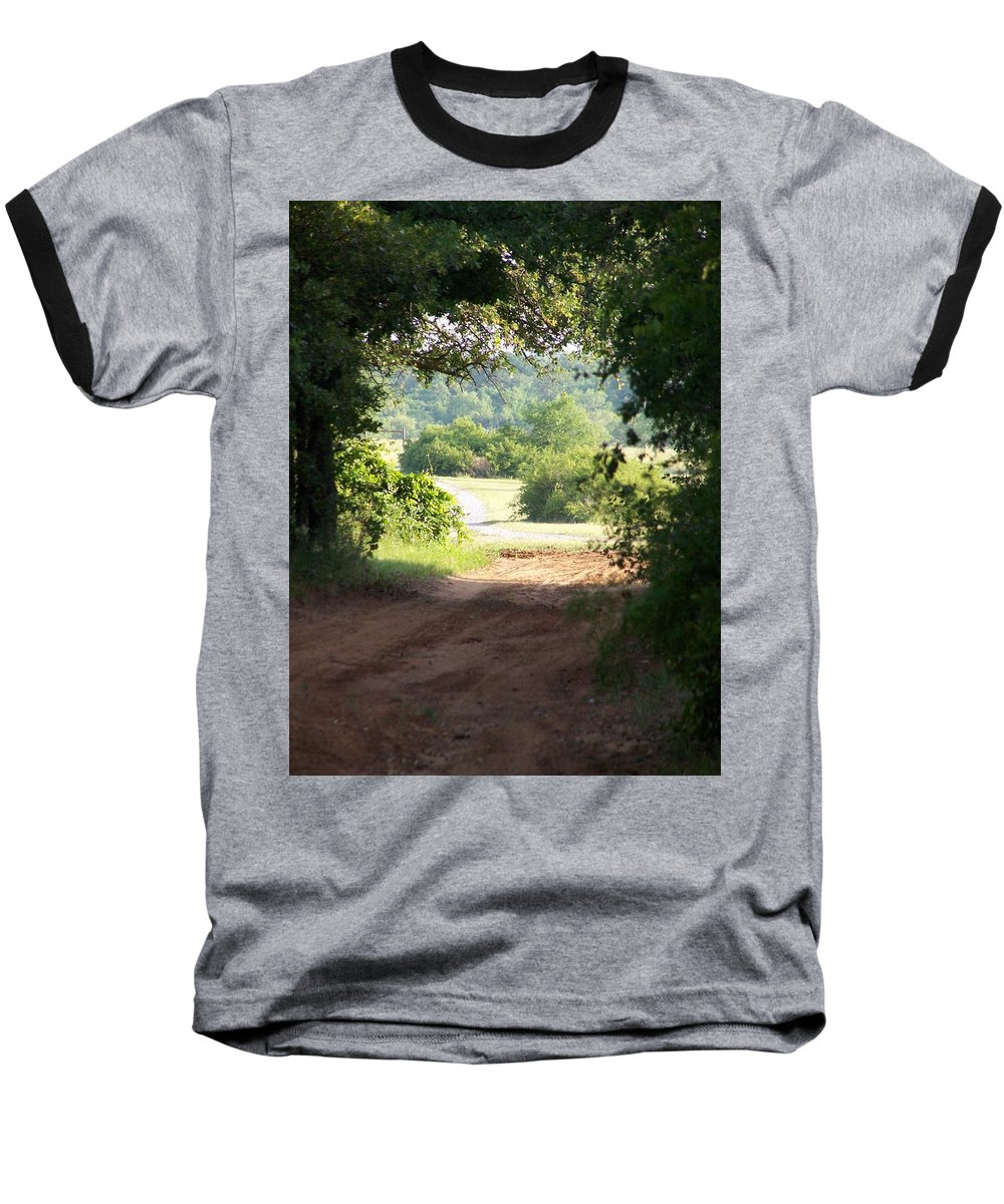 Woods Baseball T-Shirt featuring the photograph Through The Woods by Gale Cochran-Smith