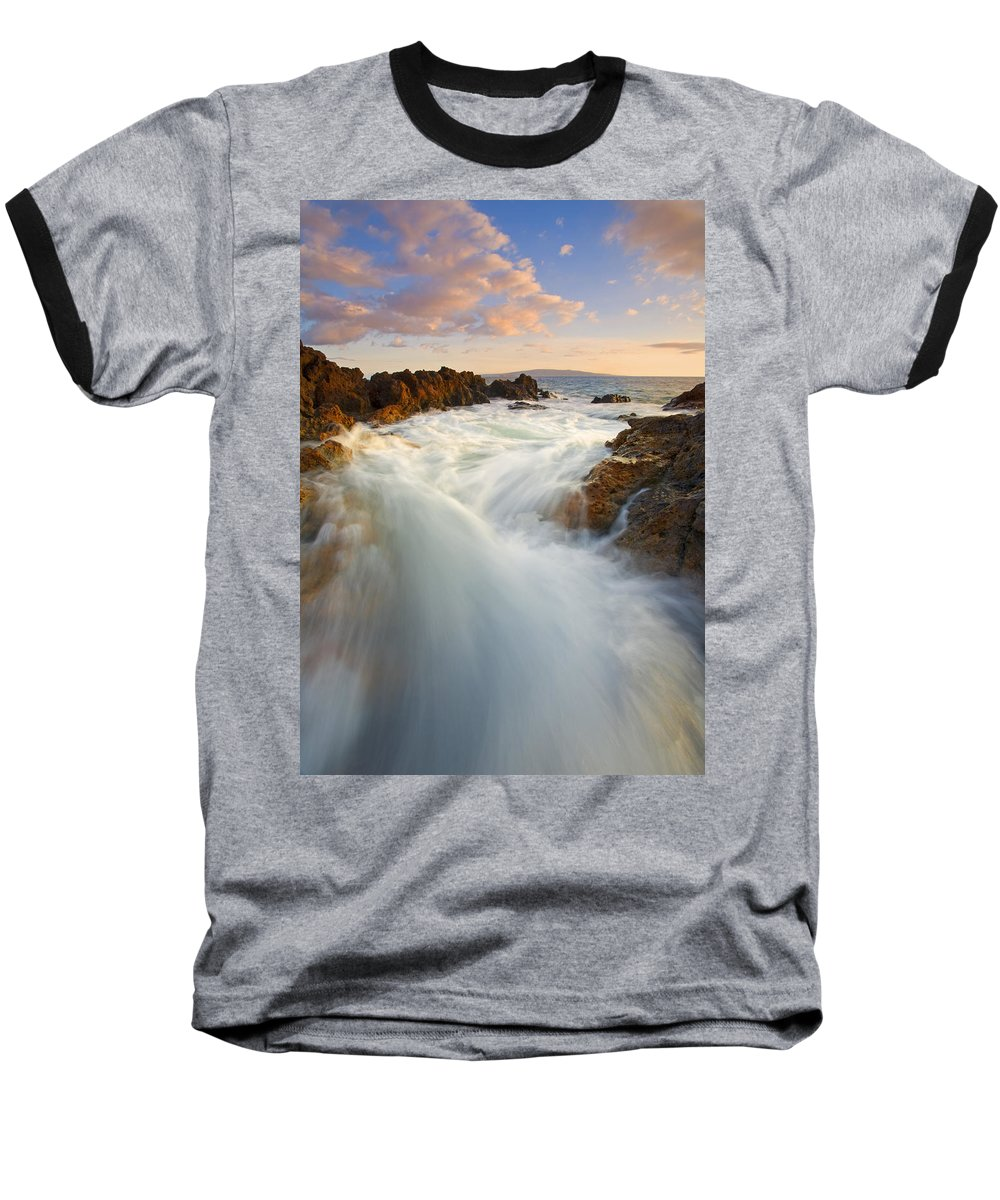Surge Baseball T-Shirt featuring the photograph Tidal Surge by Mike Dawson