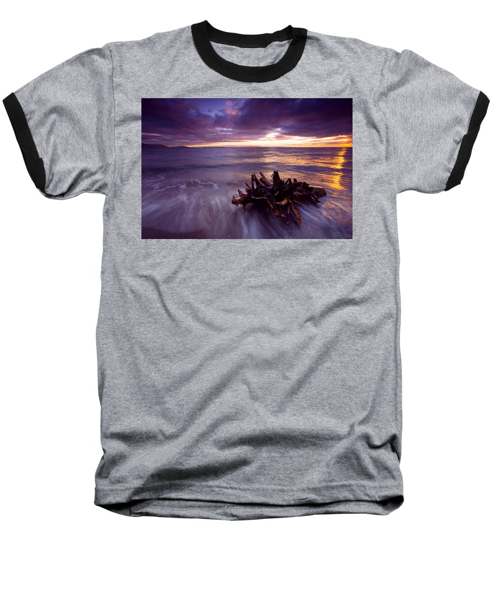 Sunset Baseball T-Shirt featuring the photograph Tide Driven by Mike Dawson