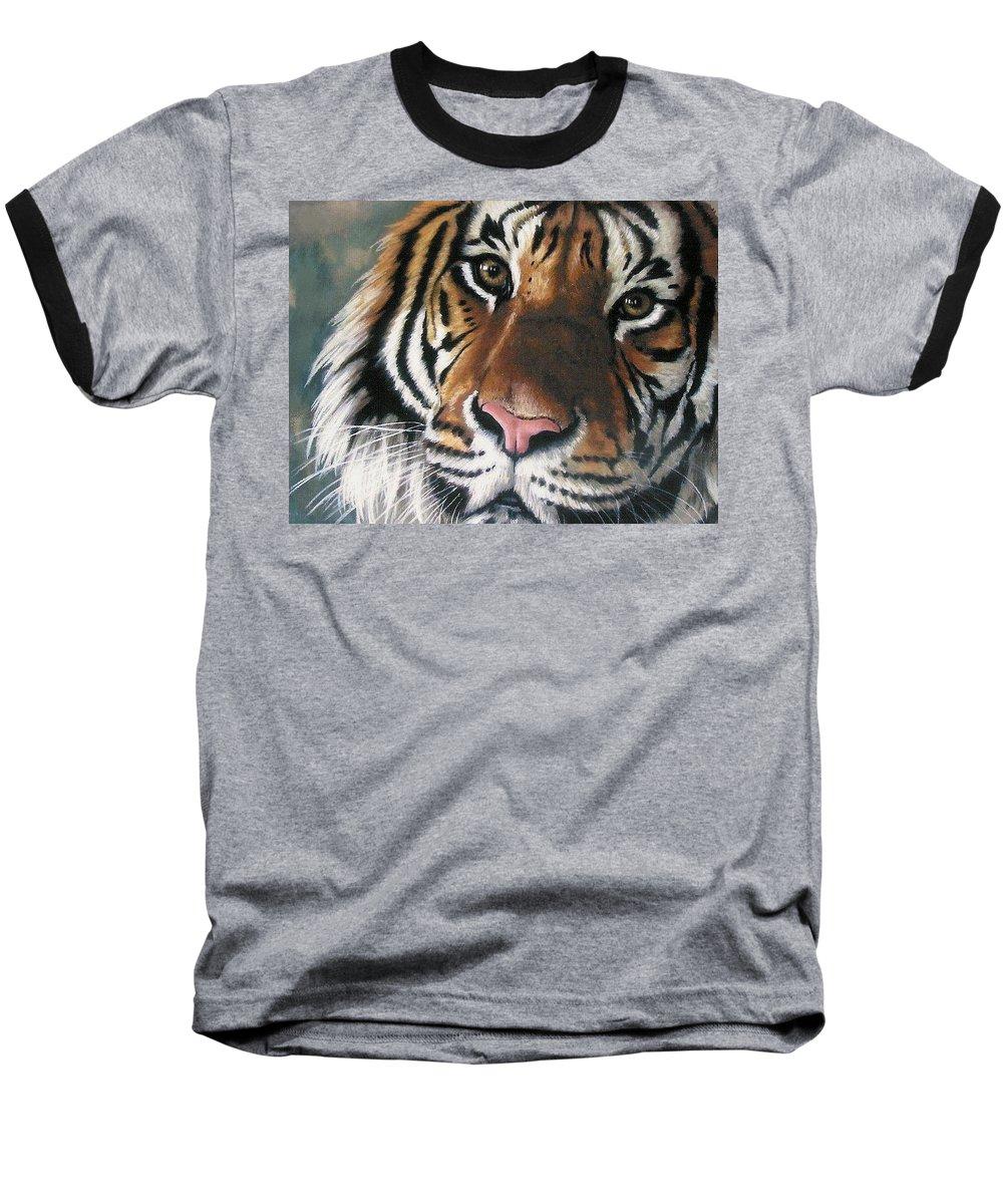 Tiger Baseball T-Shirt featuring the pastel Tigger by Barbara Keith