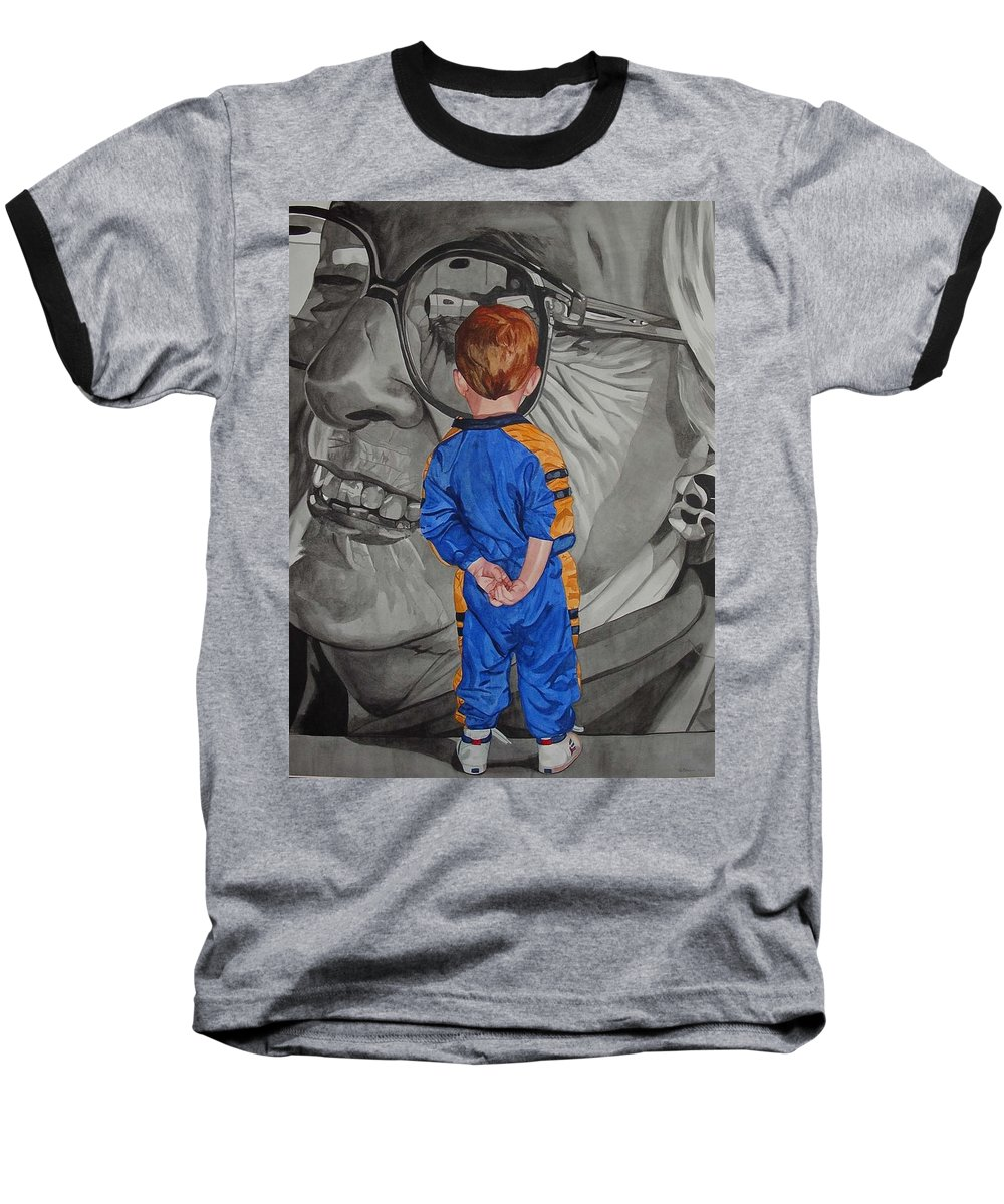 Children Baseball T-Shirt featuring the painting Timeless Contemplation by Valerie Patterson