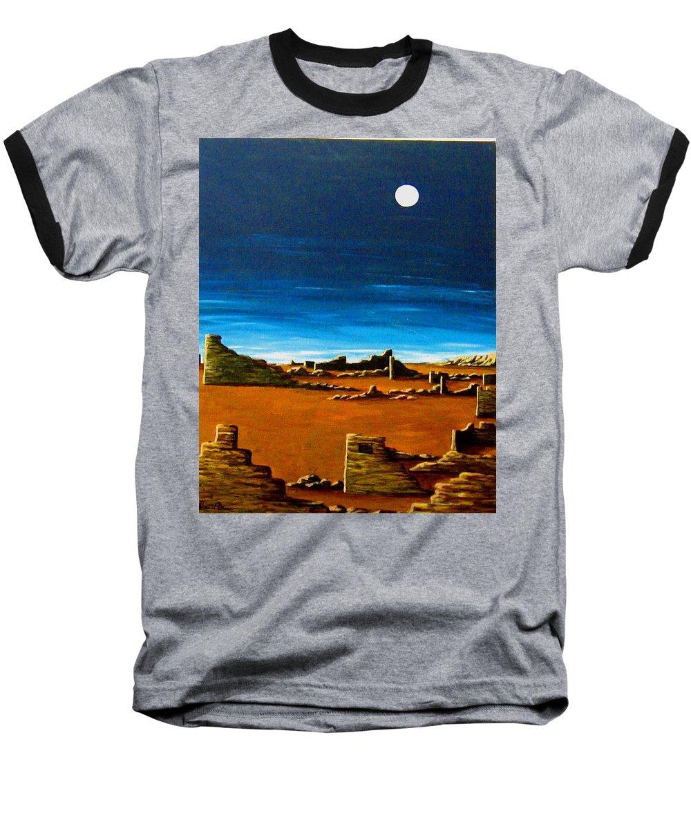 Anasazi Baseball T-Shirt featuring the painting Timeless by Diana Dearen