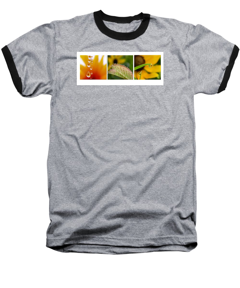 Dew Baseball T-Shirt featuring the photograph Tiny Miracles by Linda Murphy