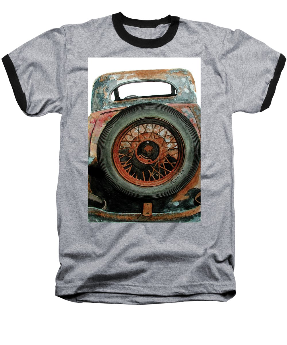 Car Baseball T-Shirt featuring the painting Tired by Ferrel Cordle