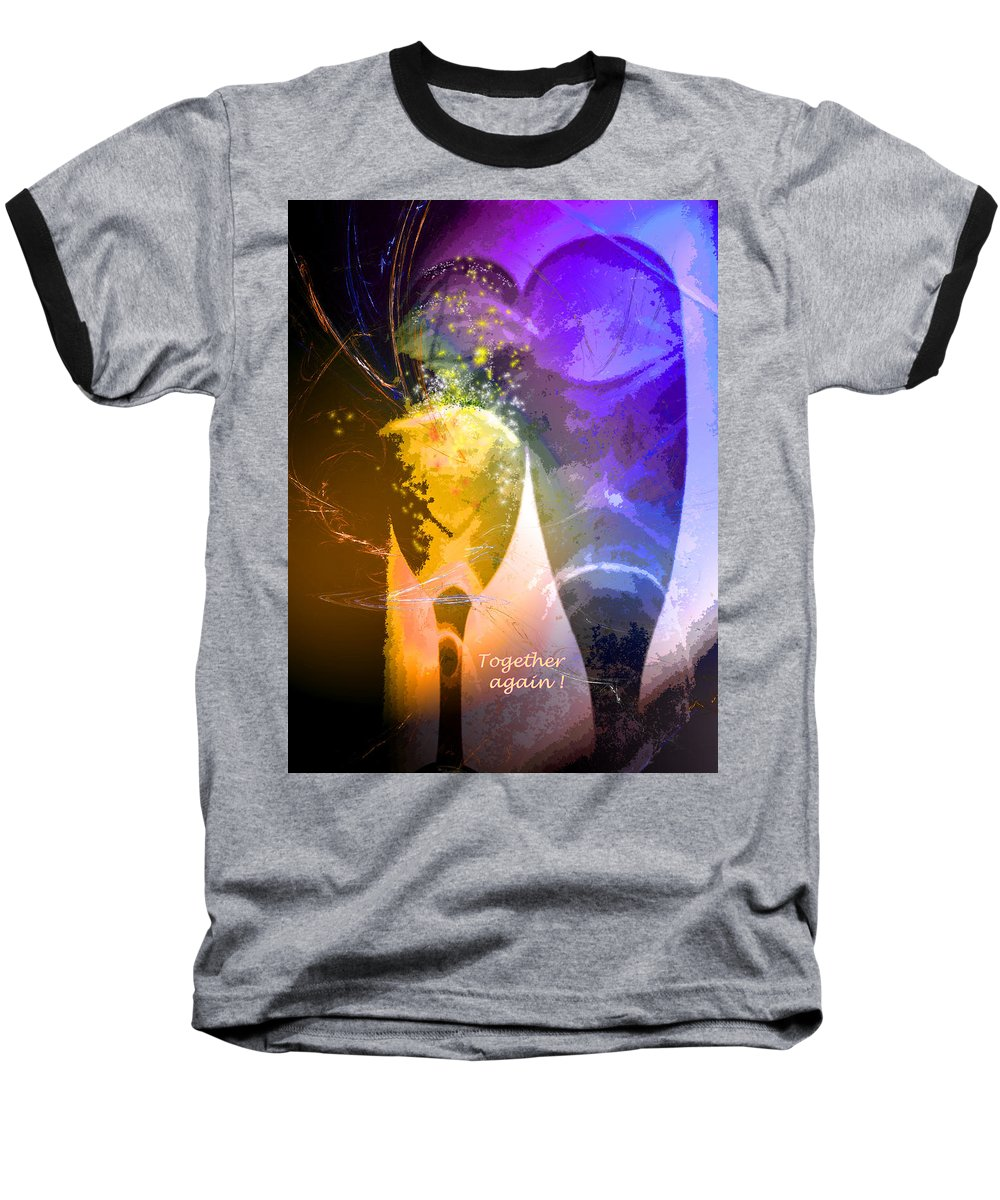 Fantasy Baseball T-Shirt featuring the photograph Together Again by Miki De Goodaboom