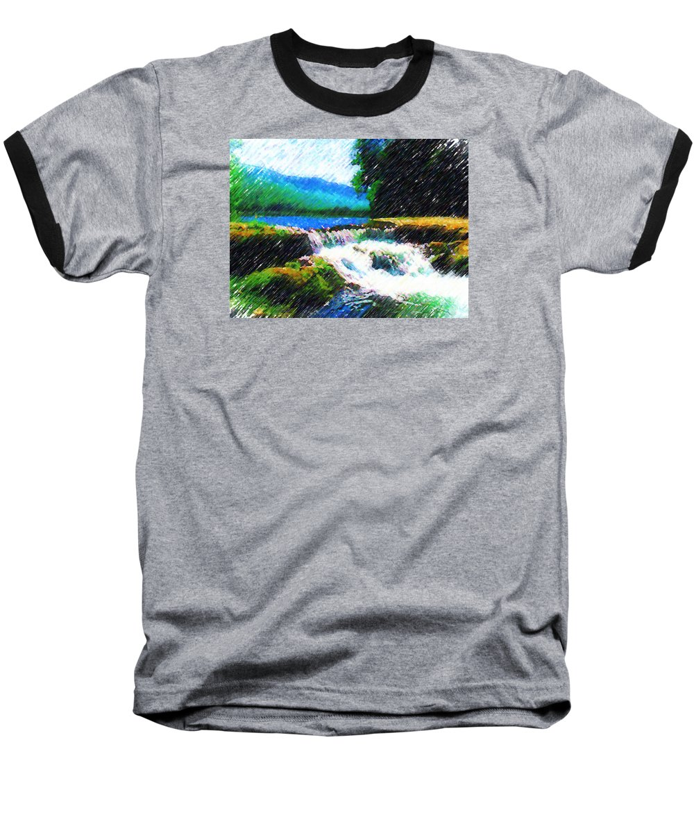 Landscape Baseball T-Shirt featuring the photograph Tolhuaca by Madalena Lobao-Tello