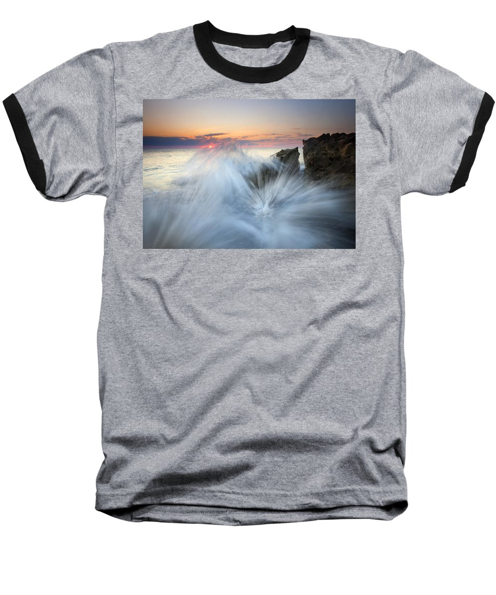 Sunrise Baseball T-Shirt featuring the photograph Too Close For Comfort by Mike Dawson