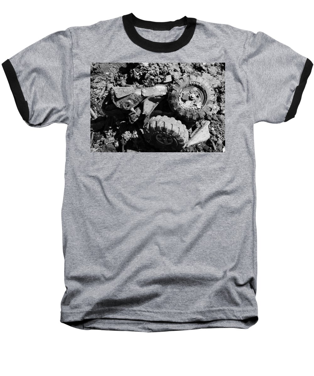 Toy Baseball T-Shirt featuring the photograph Tossed Toy by Angus Hooper Iii