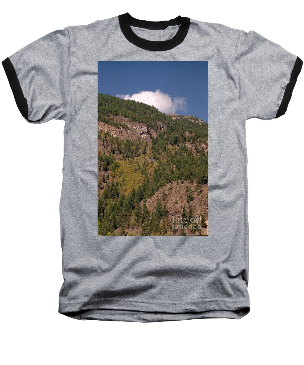 Mountains Baseball T-Shirt featuring the photograph Touching The Clouds by Richard Rizzo
