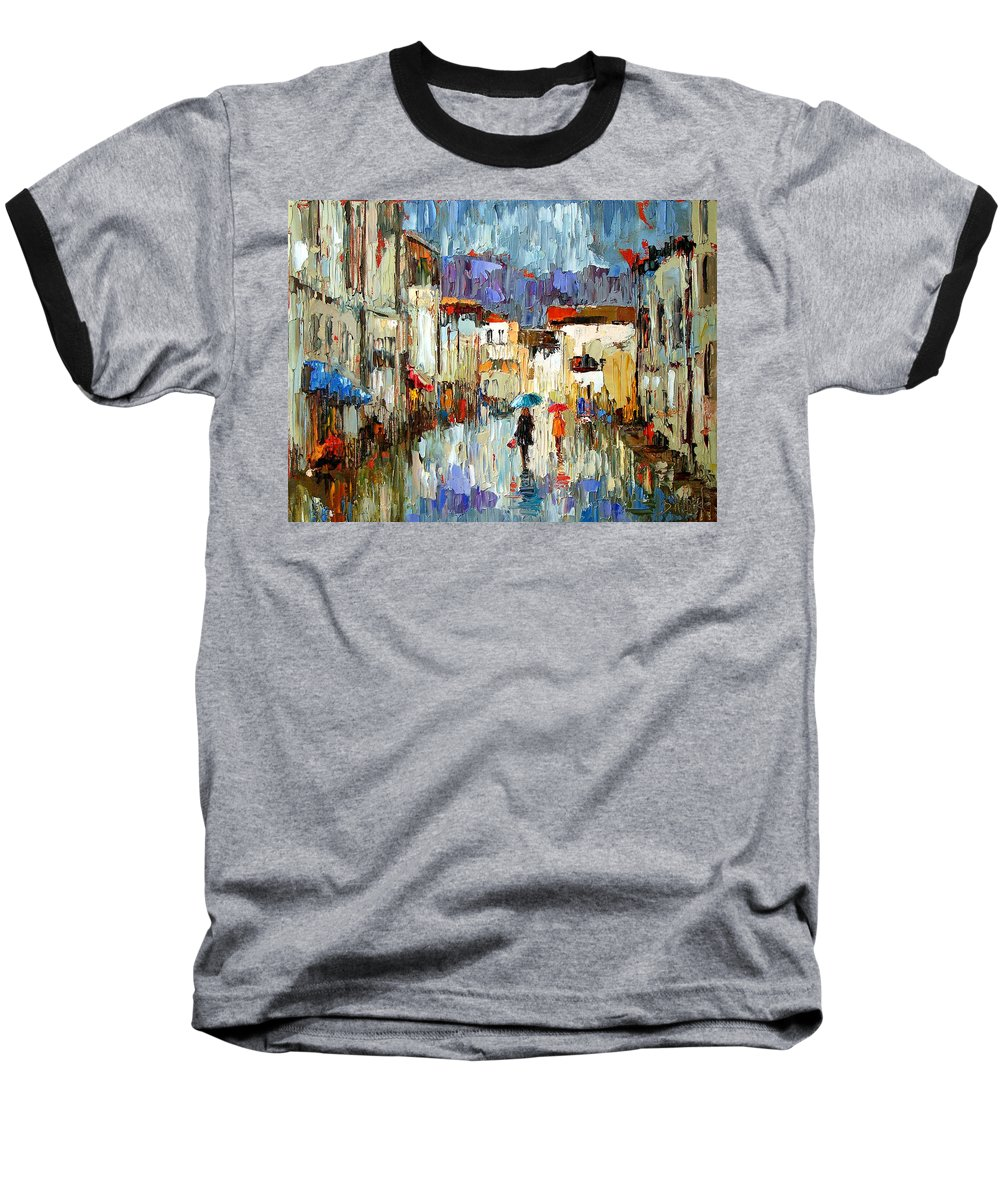 Landscape Baseball T-Shirt featuring the painting Tourists by Debra Hurd