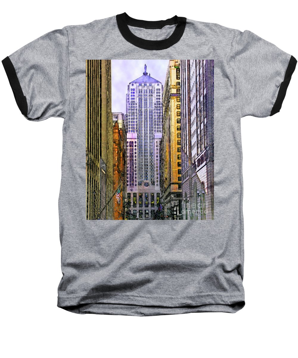 Trading Places Baseball T-Shirt featuring the digital art Trading Places by John Beck