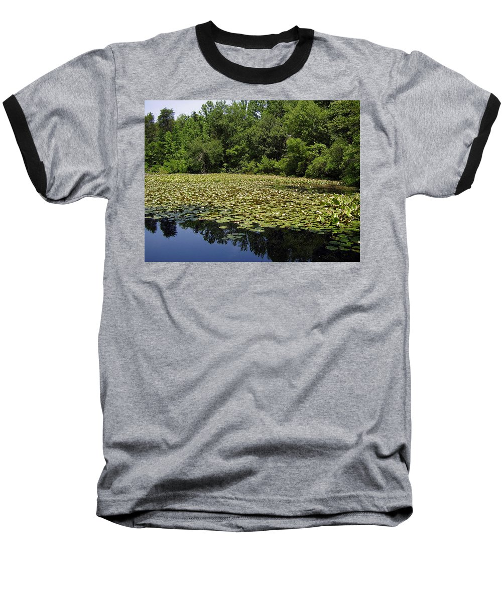 Tranquility Baseball T-Shirt featuring the photograph Tranquility by Flavia Westerwelle