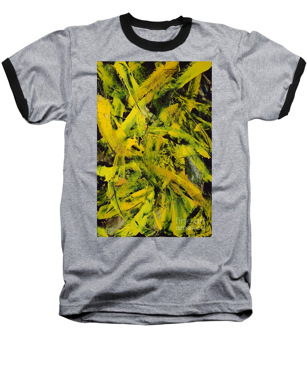 Abstract Baseball T-Shirt featuring the painting Transitions Vi by Dean Triolo