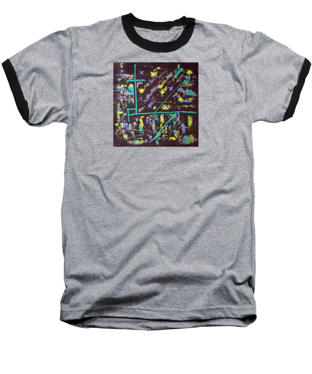Impressionist Painting Baseball T-Shirt featuring the painting Trawler And Wharf by J R Seymour