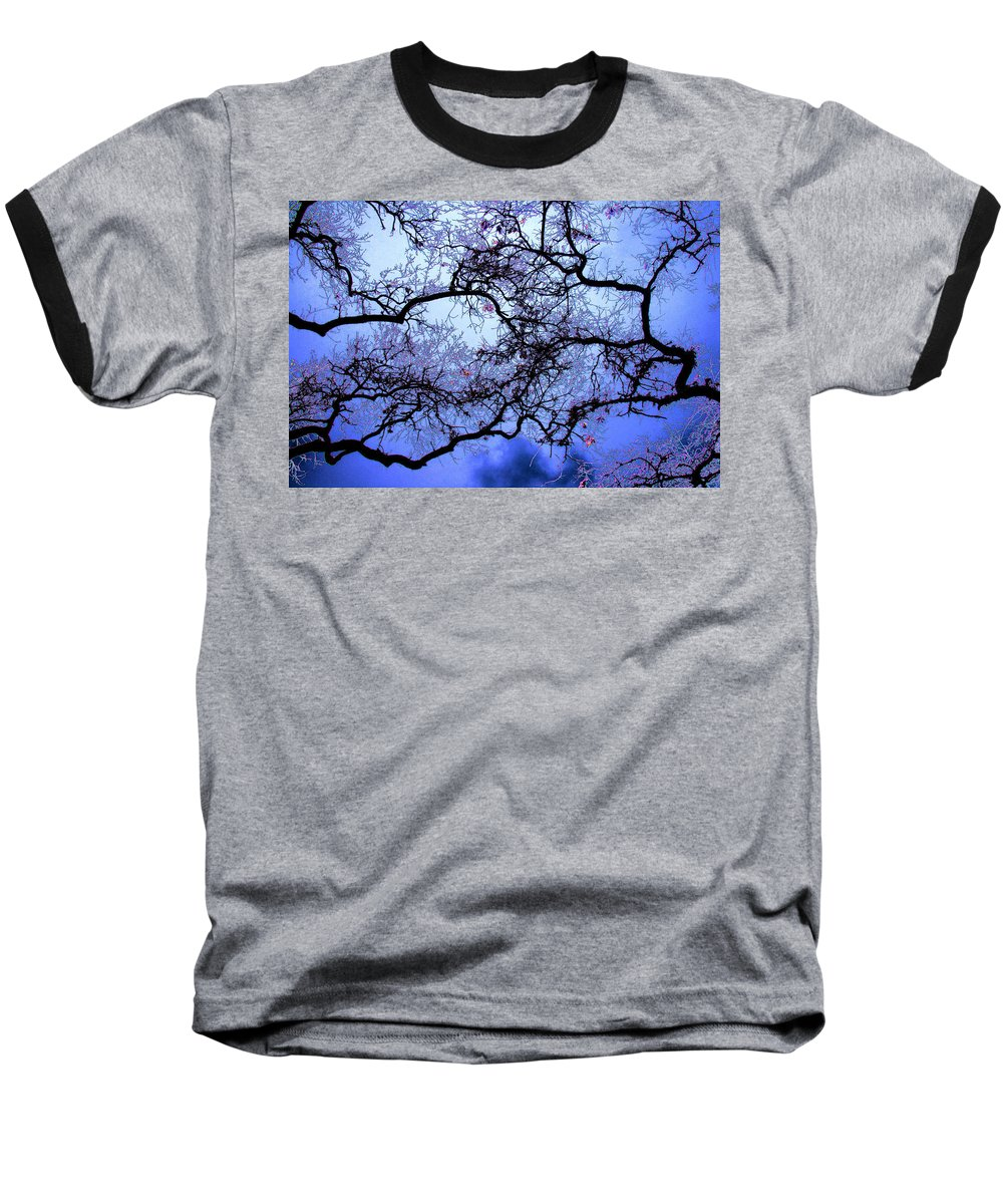 Scenic Baseball T-Shirt featuring the photograph Tree Fantasy In Blue by Lee Santa