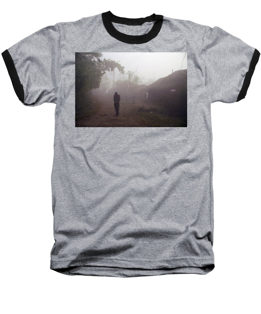Nepal Baseball T-Shirt featuring the photograph Tristesse by Patrick Klauss