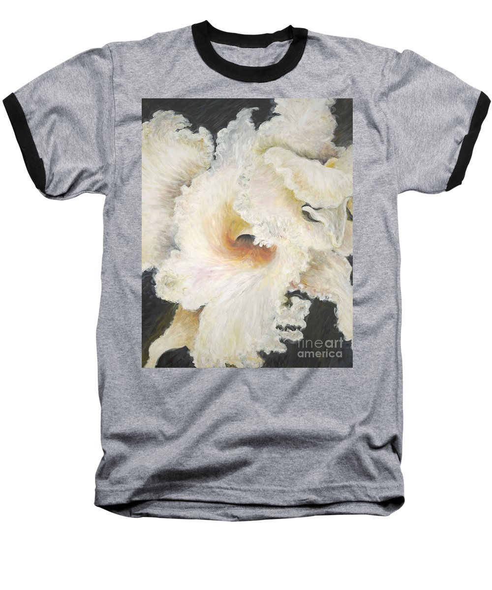 Flower Baseball T-Shirt featuring the painting Tropical Flowers by Nadine Rippelmeyer