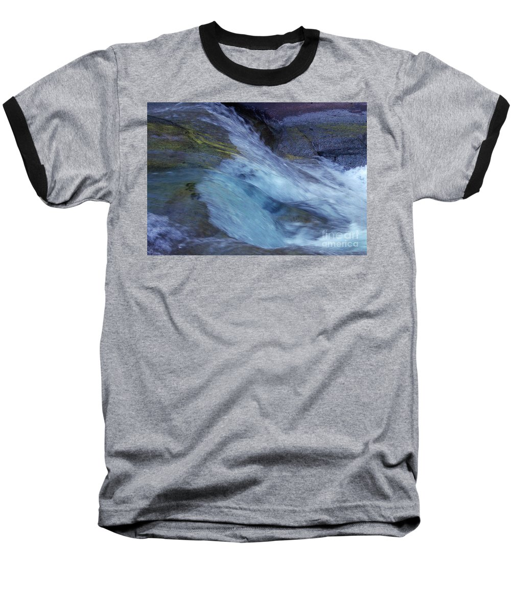 Nature Baseball T-Shirt featuring the photograph Tropical Flowing Waters by Kerryn Madsen- Pietsch