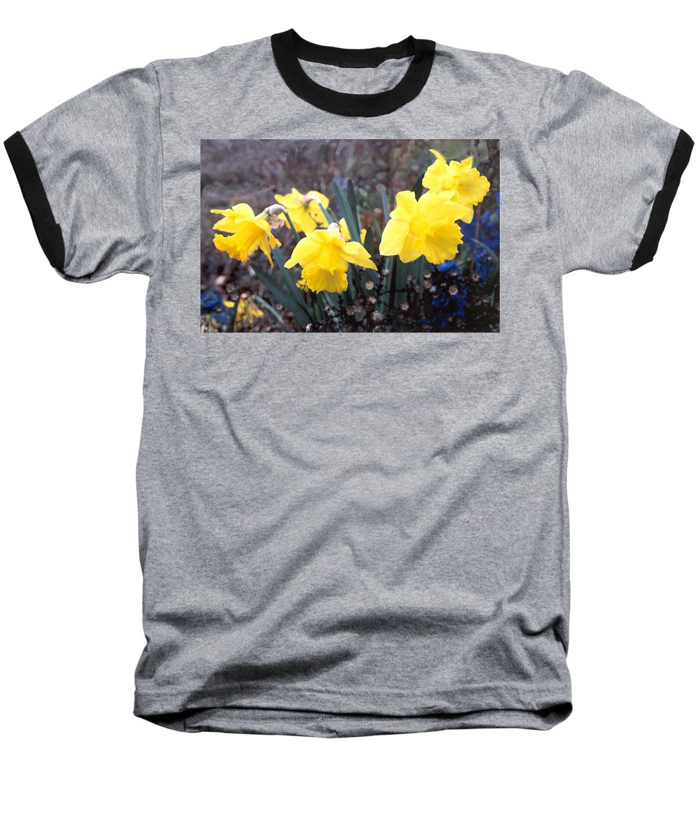 Flowes Baseball T-Shirt featuring the photograph Trumpets Of Spring by Steve Karol