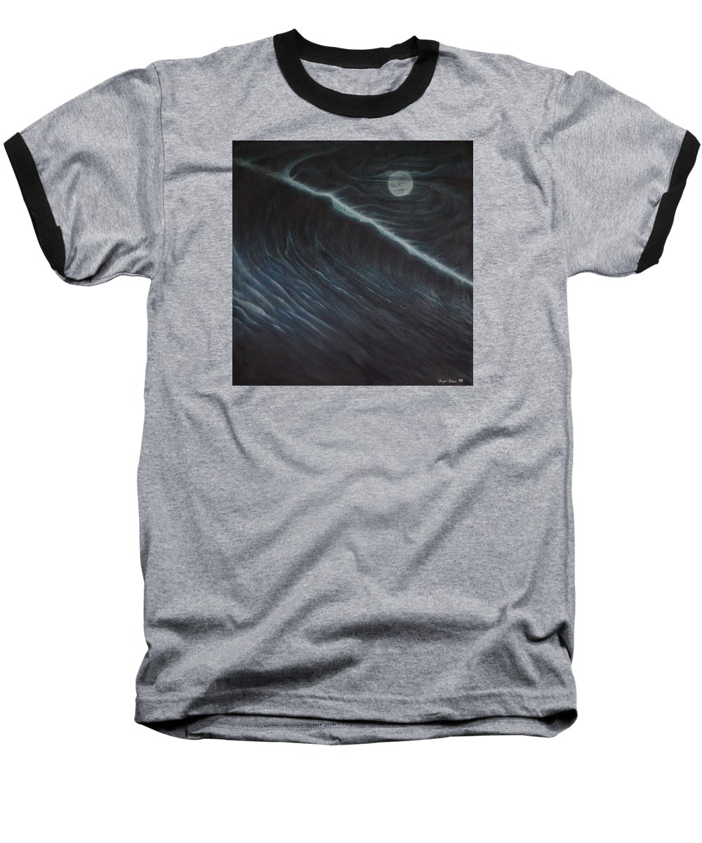 Seascapes Baseball T-Shirt featuring the painting Tsunami by Angel Ortiz