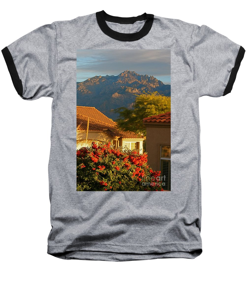 Mountains Baseball T-Shirt featuring the photograph Tucson Beauty by Nadine Rippelmeyer